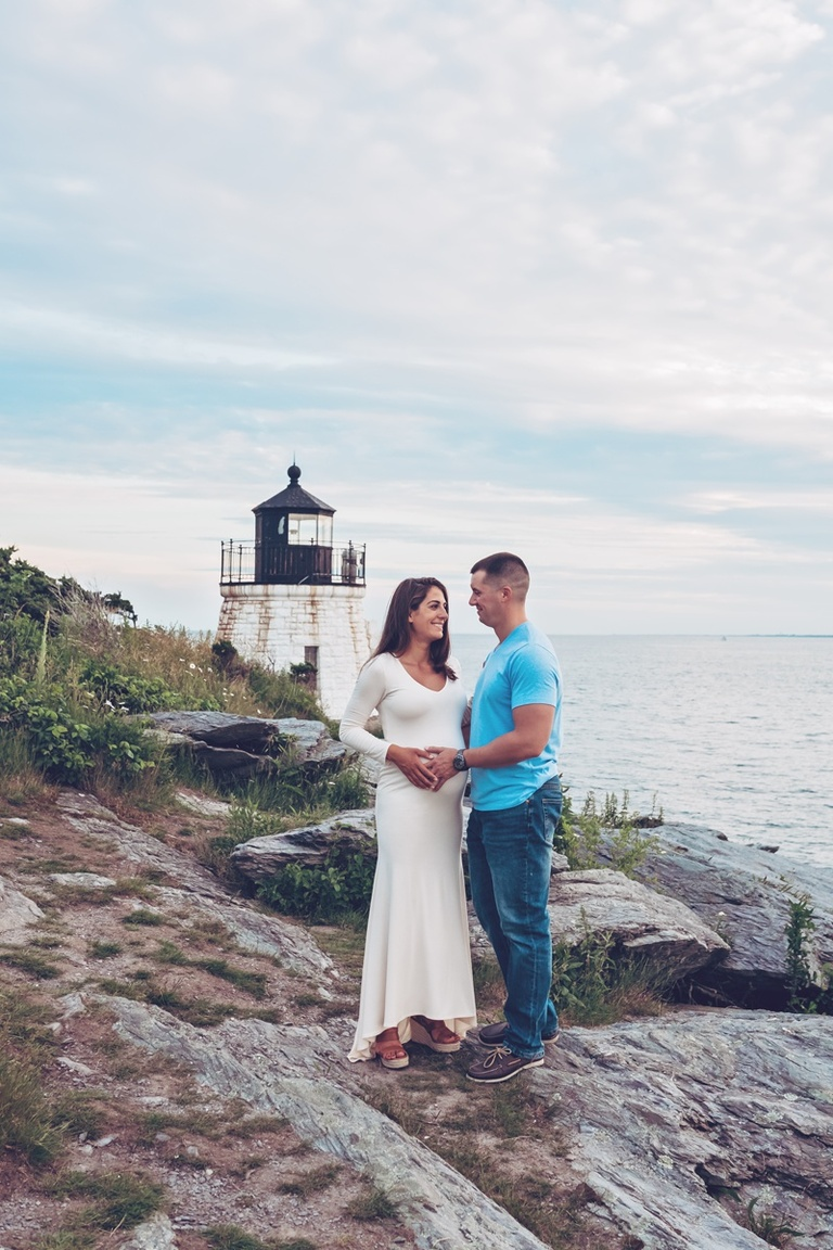 Maternity session at Castle Hill in Newport Rhode Island